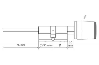 Cylindre Intelligent Balance pour Ouverture Smartphone de Porte Blindée Argo App Iseo