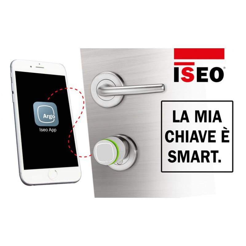 Lecteur cylindre Balance standard et le bouton Argo Iseo ouverture avec App Smartphone