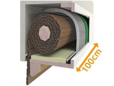 Boîte de composition 100 cm pour volet isolant PosaClima Renova