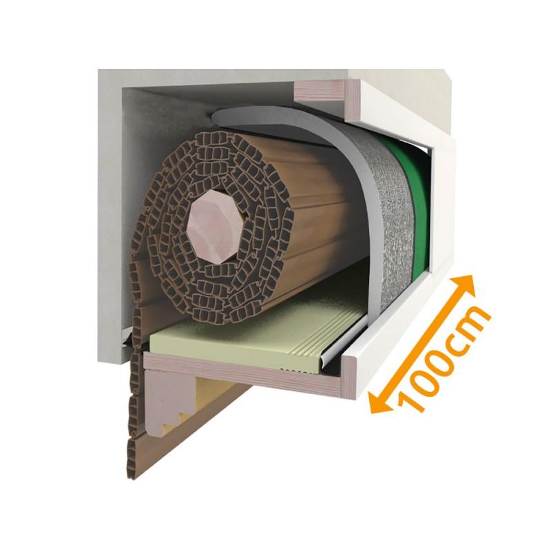 composition Cassonetto 100 cm pour l'isolation Stores PosaClima Renova