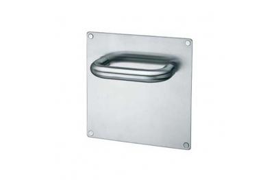 Paire de poignées sur la plaque PBA 2028B / 2001 en acier inoxydable AISI 316L