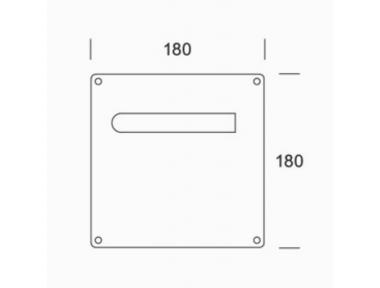 de poignées en acier inoxydable plaque paire 2MM.015.00A1 PBA AISI 316L