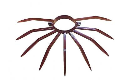 Diamètre de dispositif anti-vol 120 millimètres avec le collier Grimpo contre des voleurs entrant des terrasses et des balcons de terrasses