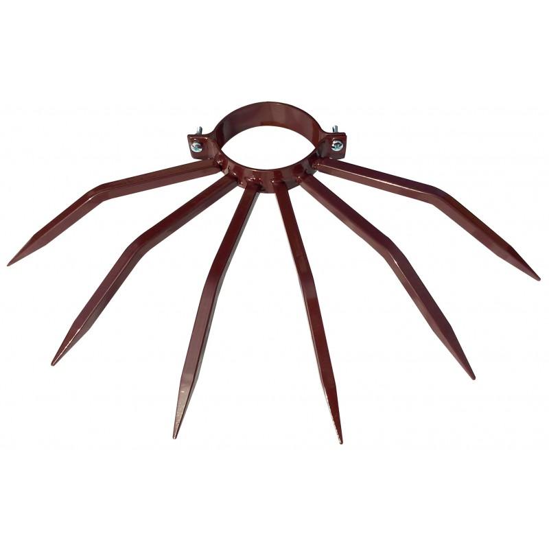 Diamètre de la borne anti-vol 120 mm Grimpo pour les tuyaux externes Type de pluie en acier peint marron