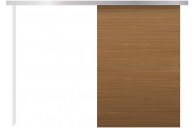 Kit de porte coulissante pour mur externe Conception essentielle silencieuse minimale