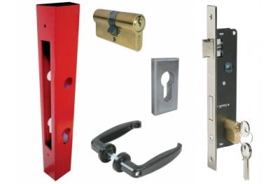 Base de Kit Portes Composée Lock Tube Poignées Cylindre plaquettes IBFM
