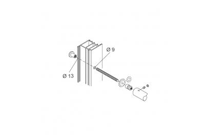 Kit de fixation PBA 01 mitigeur à portes Aluminium Fer Bois