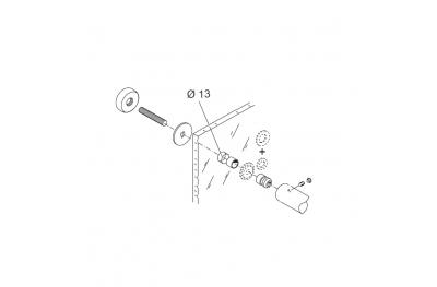 Kit de montage pour poignée PBA 02 Boucle simple pour les portes en verre