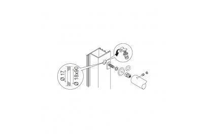 Kit de fixation PBA 03 mitigeur non pas aux portes tout matériel