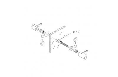 Fixation Kit PBA 04 pour mitigeur Contrastant pour portes en verre