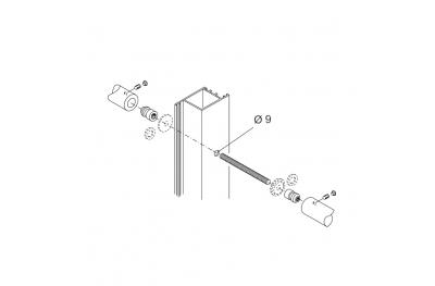Fixation Kit PBA 710 poignées couple pour Portes Aluminium Fer Bois
