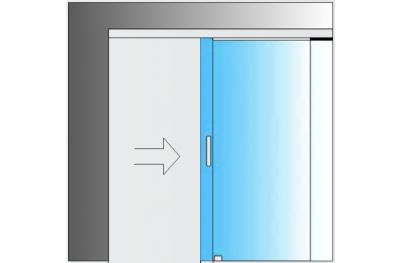 Kit coulissant Système de verre MiniSlide SbyC avec guide coulissant