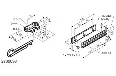 Kit universel pour applications sur fenêtres charnière WAY Mingardi