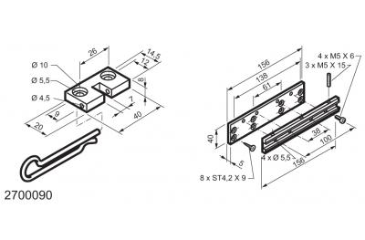 Kit universel pour applications sur fenêtres charnière WAY Mingardi Micro L et XL