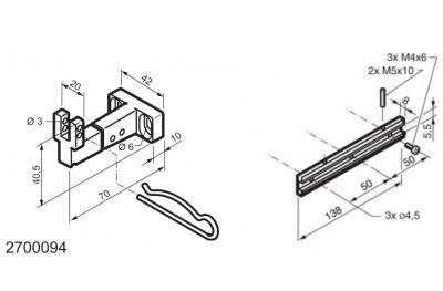 Kit universel pour des applications sur des fenêtres à soufflet WAY Mingardi