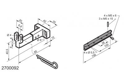 Kit universel pour des applications sur des fenêtres à soufflet WAY Mingardi Micro L