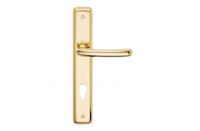 Série Lena formes de base de la plaque de poignée de porte Frosio Bortolo Classic Design italien