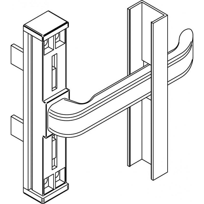 Poignée de fenêtre Cremonese Giesse Coupe Droite Ambidextre