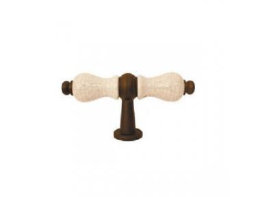 Poignée pour meubles Galbusera 5-70 + D6 Fer Forgé et Porcelaine