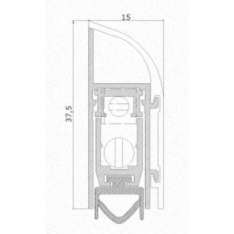 Calfeutrement pour portes 120 Comaglio Special Series différentes tailles