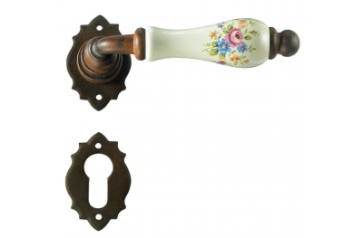 Poignée de la porte de Paris Galbraith avec rosette et la buse
