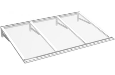 Shelter Lira blanc Transparent Aluminium AMA Sun Protection
