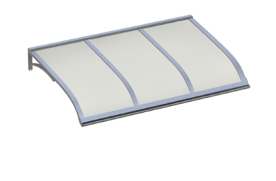 Shelter Vela Aluminium Opale Aluminium AMA Sun Protection