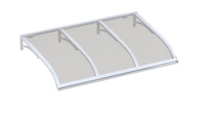Shelter Vela Blanc Gris Aluminium AMA Sun Protection