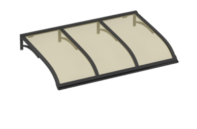 Shelter Voile Gris Aluminium Bronze AMA Sun Protection