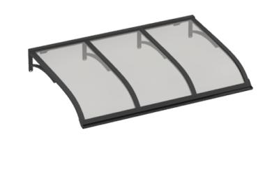 Shelter Voile Gris Gris Aluminium AMA Sun Protection