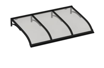 Shelter Vela Noir Gris Aluminium AMA Sun Protection
