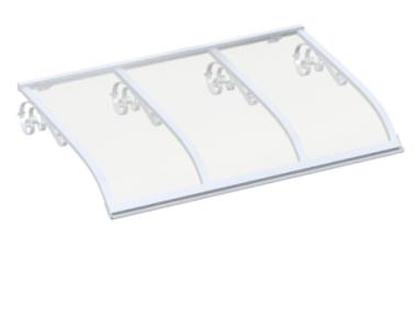 Shelter Voile Old White Transparent Aluminium AMA Sun Protection