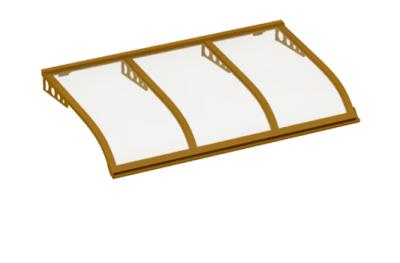 Shelter style de navigation Attaque paroi transparente Cuivre Aluminium AMA