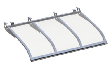 Shelter Voile Attaque style plafond Aluminium Transparent Aluminium AMA