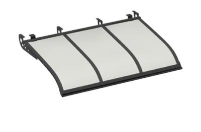 Shelter Voile Attaque style plafond gris opale Aluminium AMA