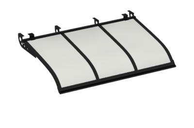 Shelter Voile Attaque style plafond Black Opal Aluminium AMA