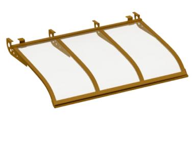 Shelter Voile Attaque style plafond Cuivre Aluminium Transparent AMA