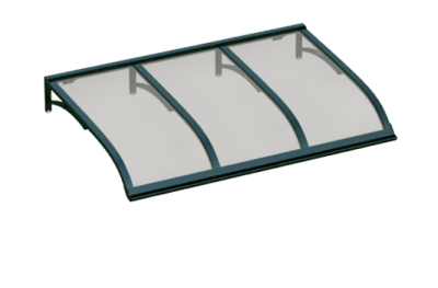 Shelter Vela Vert Gris Aluminium AMA Sun Protection