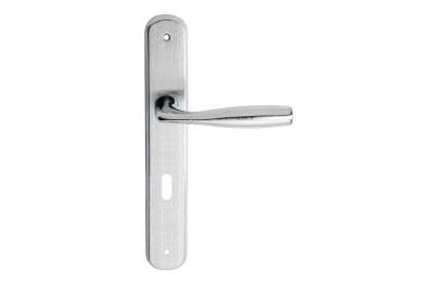 Philip Série 2 Basic forme Poignée de porte sur la plaque Régler Frosio Bortolo Forme ergonomique
