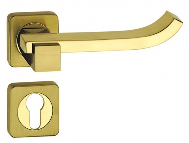 Plus Up Brass Poignée sur Rosetta Carré Fashion Line PFS Pasini