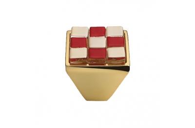Mobile Linea Cali bouton Cristal BRERA CHESS PB 28 OZ insérer Verre Rouge Blanc
