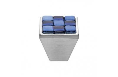 Mobile Linea Cali bouton Cristal BRERA CHESS PB 30 CS insérer Verre Bleu Blanc