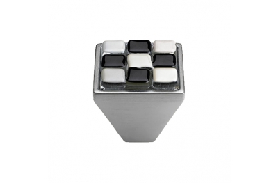Mobile Linea Cali bouton Cristal BRERA CHESS PB 29 CS insérer Verre Noir Blanc