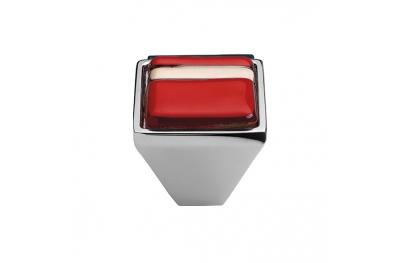 Mobile Linea Cali Bouton Cristal BRERA LINEAR PB 21Cr insérer verre rouge