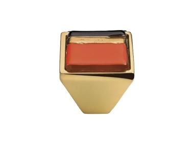 Mobile Linea Cali Bouton Cristal BRERA LINEAR PB 23 OZ insérer verre orange