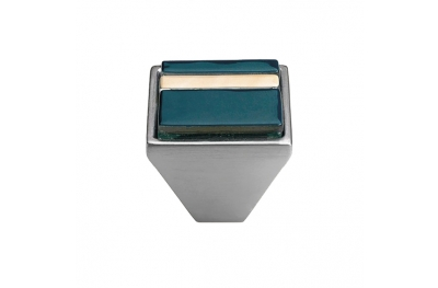 bouton mobile Linea Cali Cristal BRERA LINEAR PB 31 CS insérer Blue Glass