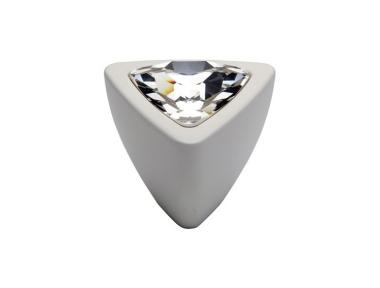bouton mobile Linea Cali Cristal COMET PB BA avec Swarowski Matt White