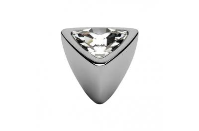 bouton mobile Linea Cali Cristal COMET PB CR avec Swarowski Chrome poli