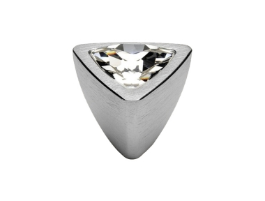 Mobile Linea Cali Bouton Cristal COMET PB CS avec Swarowski Satin Chrome
