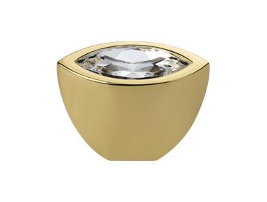 Pommeau Mobile Line Elipse Cali Cristal PB Swarowski® d'or pur